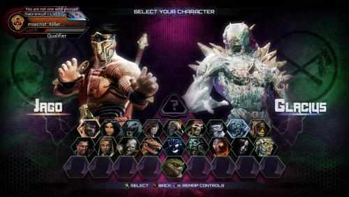 UI Character Select S3